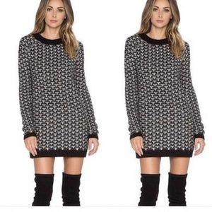 Knitz For Love & Lemons Sweater Geo Mini Dress